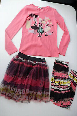 junior gaultier 3 Piece Outfit Top, Leggings, Skirt Age 12 Years Vgc
