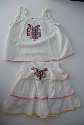 Oilily Outfit Set Skirt & Top Age 5-6 Years  White Girls