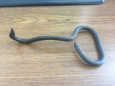 Antique Vintage Primitive Cast Iron Hand Forged Hay Bale/Meat Hook Farm Tool