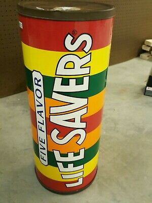 Vintage 1996 Five Flavor Life Savers Candy Advertising Coin Piggy Bank