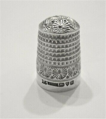 Superb Antique Hallmarked Chester 1906 Sterling Silver Thimble H G & S Ltd
