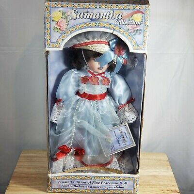 "Vintage New Samantha Collection Porcelain Doll Limited Edition 1998 - 18"" Tall"