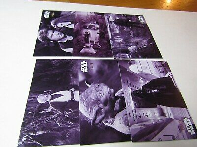 STAR WARS B & W RETURN of the JEDI PURPLE HUE PARALLEL LOT 11 CARDS No Dups #/25