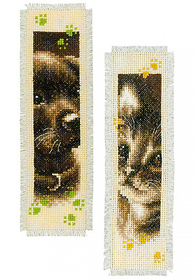 Vervaco Bookmark Cat and Dog (Set of 2)