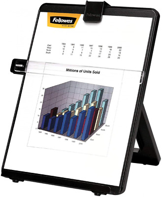 Fellowes Adjustable Document Holder with Line Guide, Black