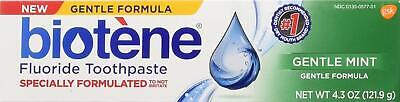 Fluoride Toothpaste Gentle Mint Flavor Best for Dry Mouth 2 Pack