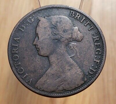 1864 New Brunswick Queen Victoria One Cent - Tall 6 Variety