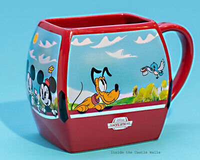 Disney Skyliner Mickey Mouse, Minnie, Pluto Chip & Dale Ceramic Coffee Mug NEW