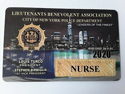 1  Authentic 2020  Lba Pba Lieutenants  Nurse Card  Not Cea Sba Dea Card