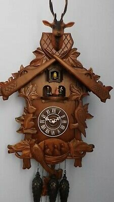 Large Cuckoo Clock - Stags Head