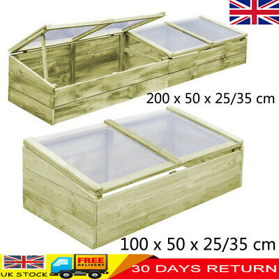 Adjustable Wooden Roof Cold Frame Greenhouse Growhouse Hothouse Plant Flower Bed