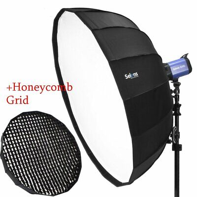 """41"""" 105cm Softbox Beauty Dish Bowens Mount with Honeycomb Grid For Studio Flash"""