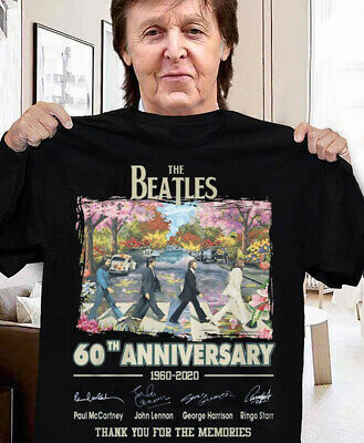 60th Anniversary The Beatles 1960-2020 Signature Thanks Memories Shirt Funny ...