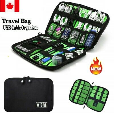 New Travel Storage Bag Electronics USB Charger Data Cable Waterproof Organizer