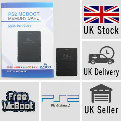 64MB Free McBoot FMCB 1.966 Latest Playstation 2 PS2 Memory Card Mod OPL