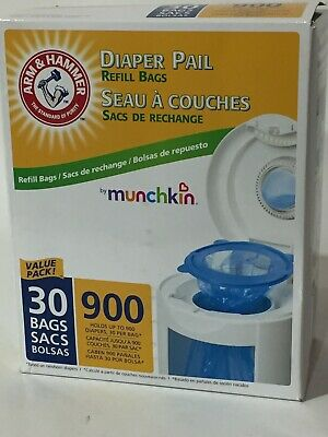 30 Count Value Pack - Munchkin Arm & Hammer Diaper Pail Refill Bags