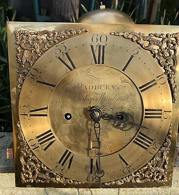 """Antique Longcase/Grandfather Clock 8 Day Movement With 11"""" Dial"""
