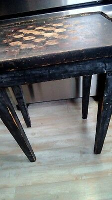 GROSSE POINTE Antique Checkerboard Table