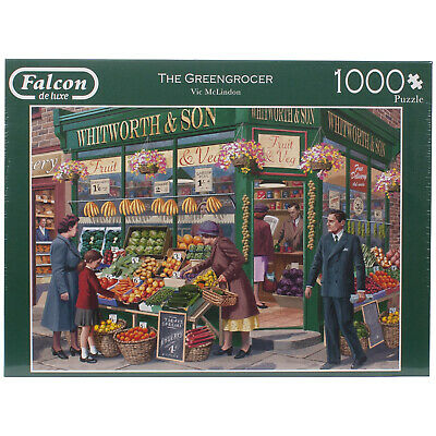 Falcon De Luxe Jigsaw Puzzle 1000 Pieces - The Greengrocer By Vic McLindon