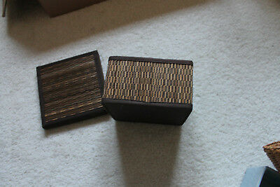 Vintage/antique Chinese Bamboo/Wicker weaved sewing box