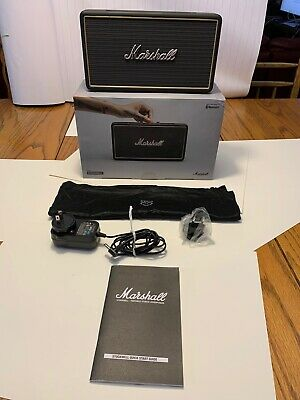 Marshall Stockwell Portable Bluetooth Speaker with Case and  flip cover