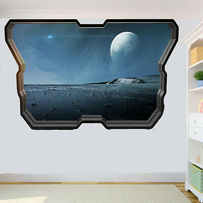 Outer Planets Pluto Surface Wall Sticker Art Mural Print Poster Room Decor RZ8
