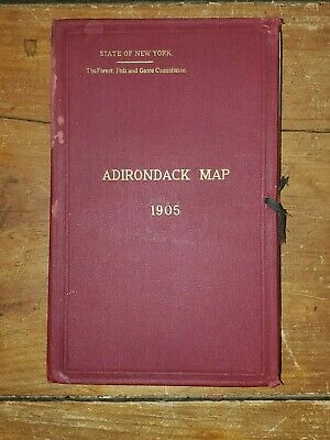 Adirondack Map Book 1905, 4 Quadrants.