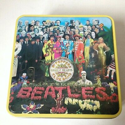 the BEATLES SGT SERGEANT PEPPERS LONELY HEARTS CLUB BAND PUZZLE MB 2002 TIN