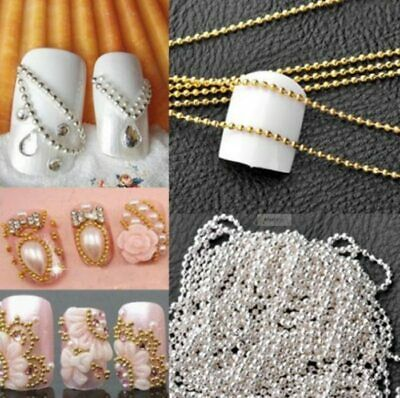 3D Decoration Nail Art Rhinestones Crystals Gems Beads Charms Pearl Glitter Gold