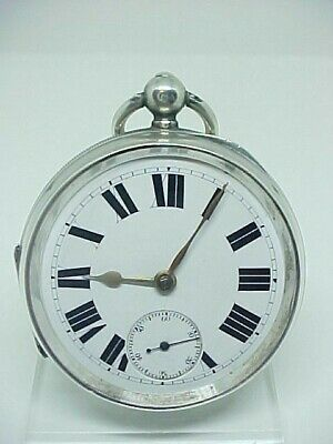 Quality Victorian English lever pocket watch solid silver 1908