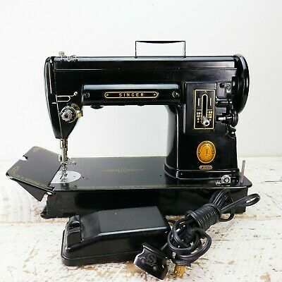 301A Singer Sewing Machine - Newly Serviced & Ready to SEW  vtg 301 A antique