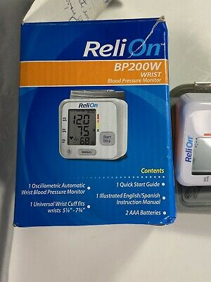 Relion BP 200W Wrist Blood Pressure Monitor for personal use Working