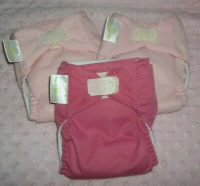 BumGenius AIO Cloth diapers size Small - Lot of 3