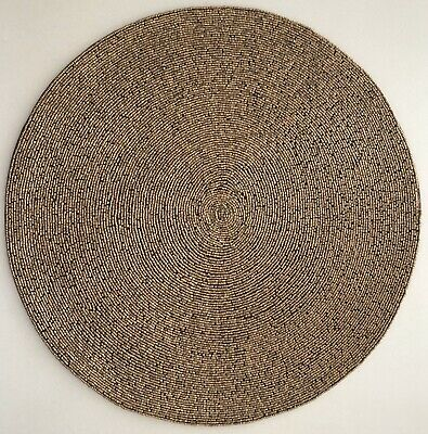 6 NEW Pottery Barn Gold Beaded Placemats, Round, 38cm
