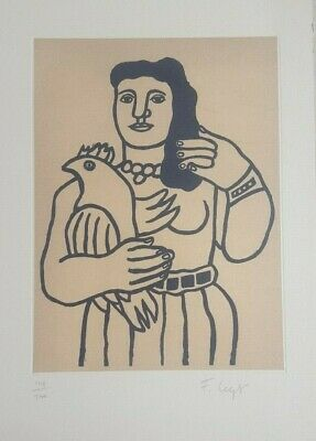 FERNAND LEGER Superb Lithograph Hand Signed in Pencil