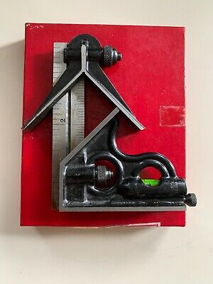 """Vintage Union Tool Co. combination square, center head, 4"""" ruler  #204-24"""