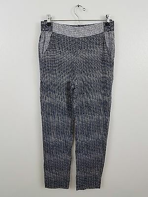Cabi pants XS blue patterned pilazzo pull on crepe 5109 spring strand stripe