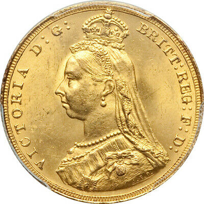 Great Britain 1887 Victoria Gold Sovereign PCGS MS-64