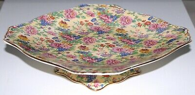Royal Winton Grimwades Cake Stand Plate KINVER Chintz Floral Pattern