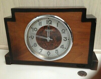 Antique Black Forest Art Deco Mantle Mantel Clock