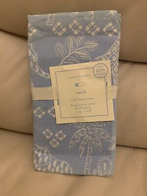 $44 Pottery barn ORGANIC Crib Toddler bed Fitted Sheet holiday baby nursery Bear