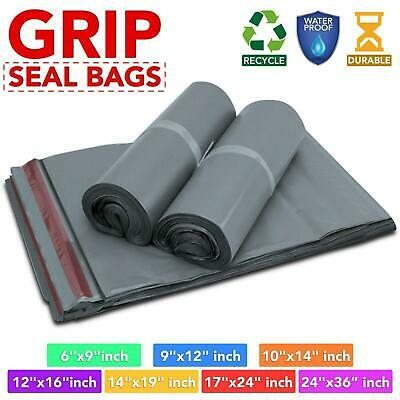 Strong Poly Bag Grey Grip Self Seal Mailing Postage Postal Parcel Plastic Bags