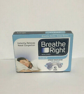 Breathe Right Congestion Relief Nasal Strips, Small/Medium, Clear, 10 Pack