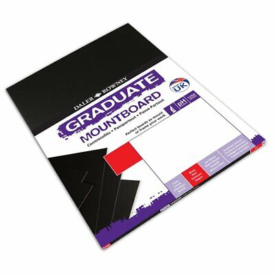 A2 Graduate Mountboard 5 Pack Black