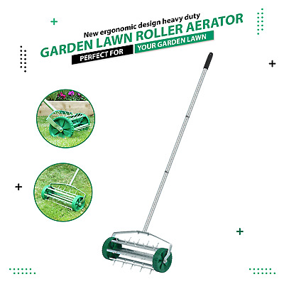 3 Level Adjustable Telescopic Handle Gardening Lawn Aerator Grass Rolling Roller