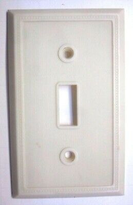 Eagle 134 Art Deco Switch Wall Plate Cover Dots Thin Lines Beige Bakelite