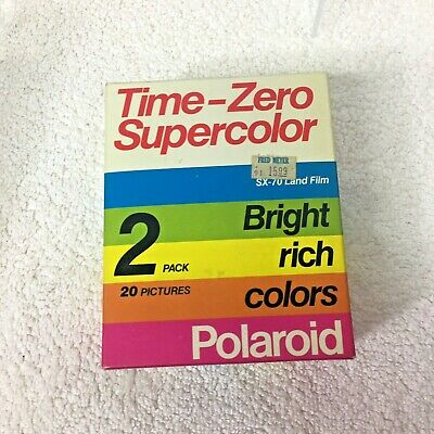 Vintage Film Polaroid Time Zero Supercolor 2 pack Never Opened Box