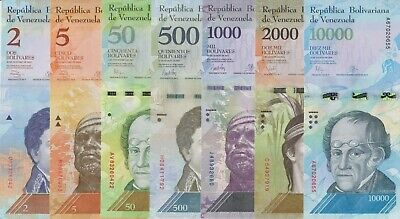 "Error RY ***Set: 2 Venezuela.1000 Bs./""Normal and Double Neck /"".2005 AU//UNC."