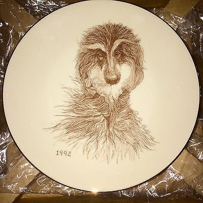HTF 1992  Laurelwood Afghan Hound  Plate New in Box OOP