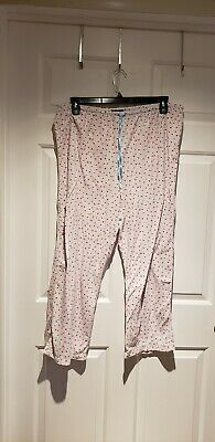 Womens Size Large Blue Red Fleece Lounge Sleep Pants Axcess Liz Claiborne